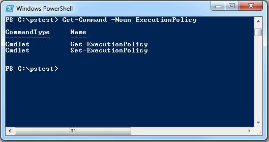 Get-Command -Noun ExecutionPolicy